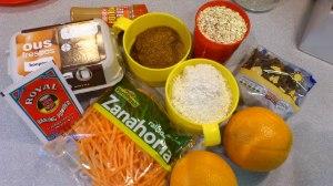 Ingredientes bizcocho integral de zanahoria
