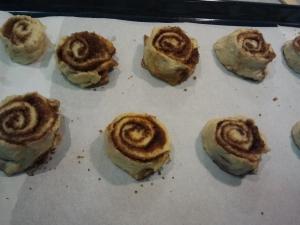 Cinnamon rolls a punto para el horno :-)
