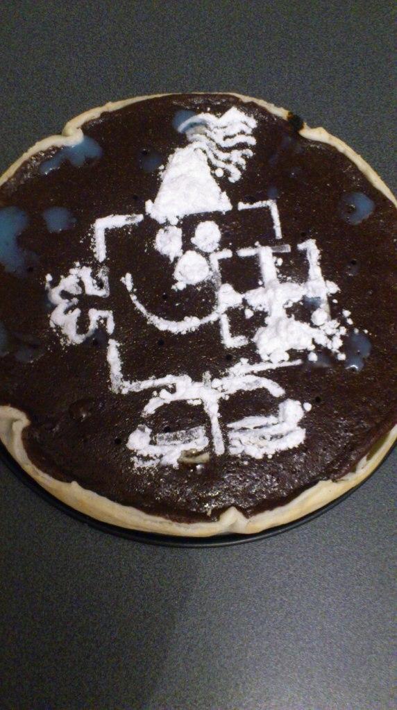 Tarta de cumpleaños de chocolate fondant :-)
