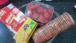 Tarta de fresa y gelatina: Ingredientes