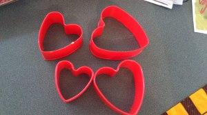 Moldes con forma de corazón