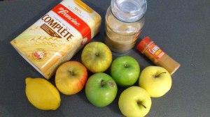 Ingredientes pastel de manzana y canela