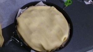 Cubriendo el pastel con la segunda masa (3): ¡Listo!