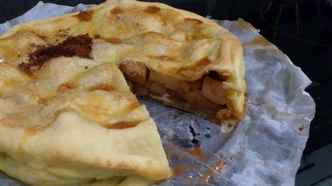 Pastel de manzana con canela