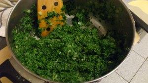 Relleno de espinacas para empandas libanesas :-)