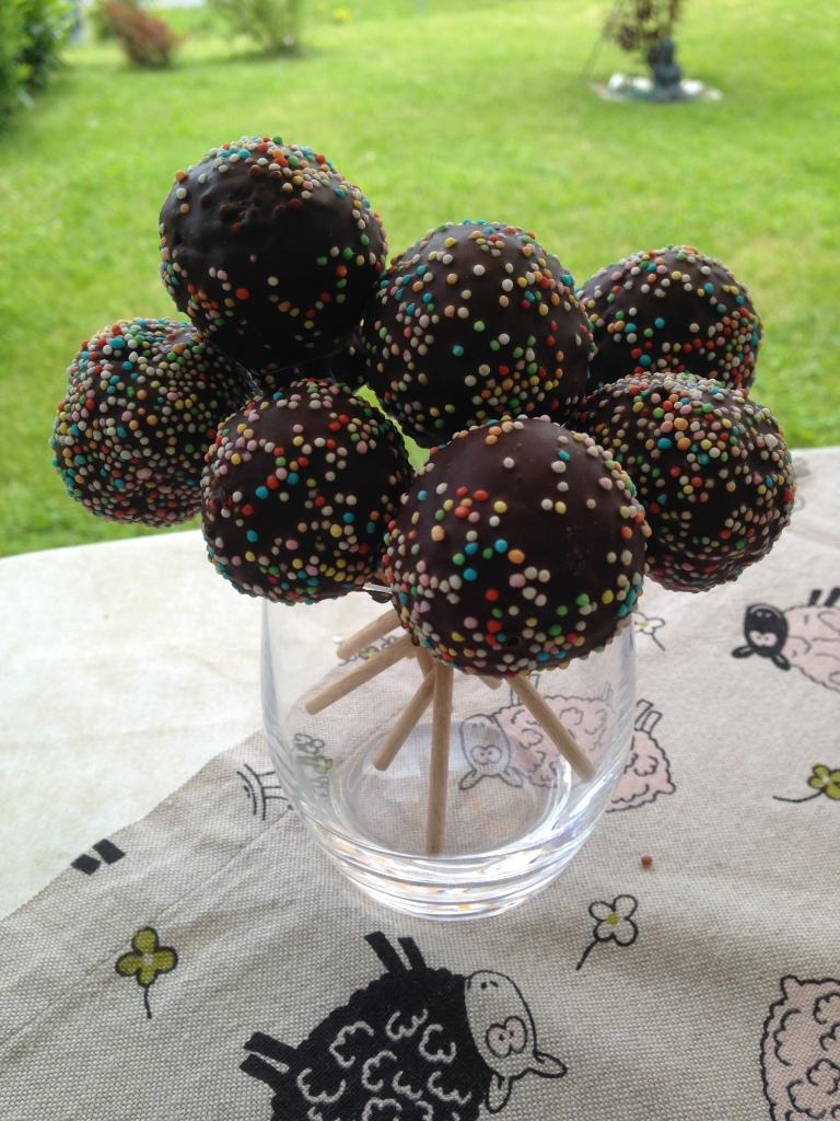 Receta cake pops de chocolate negro