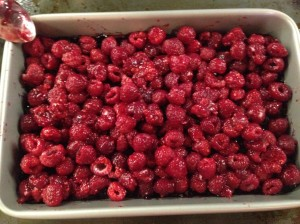 receta crumble frambuesas