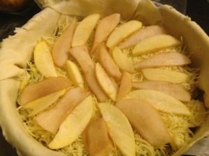 Capa de manzana y pera