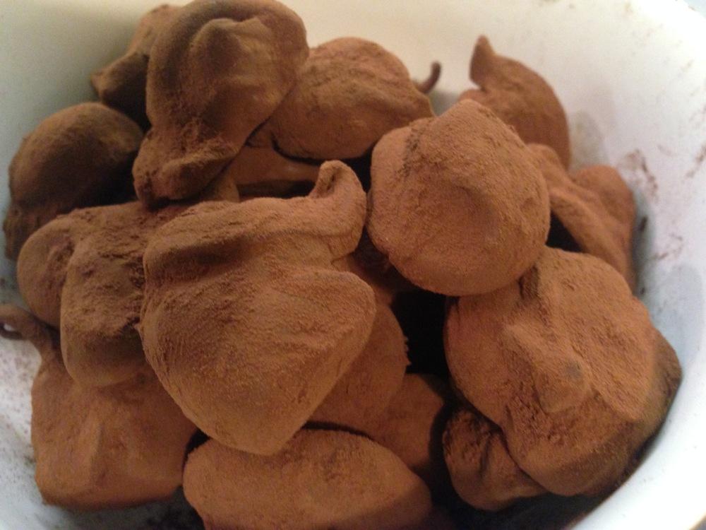 trufas de chocolate negro cacao receta