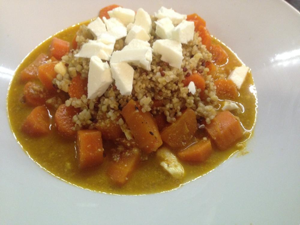Receta sopa de zanahoria quinoa y especies