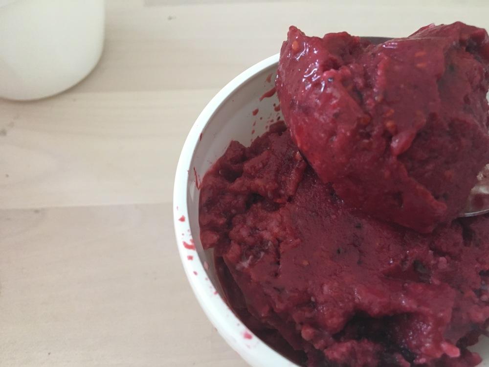 receta helado de frutos rojos casero
