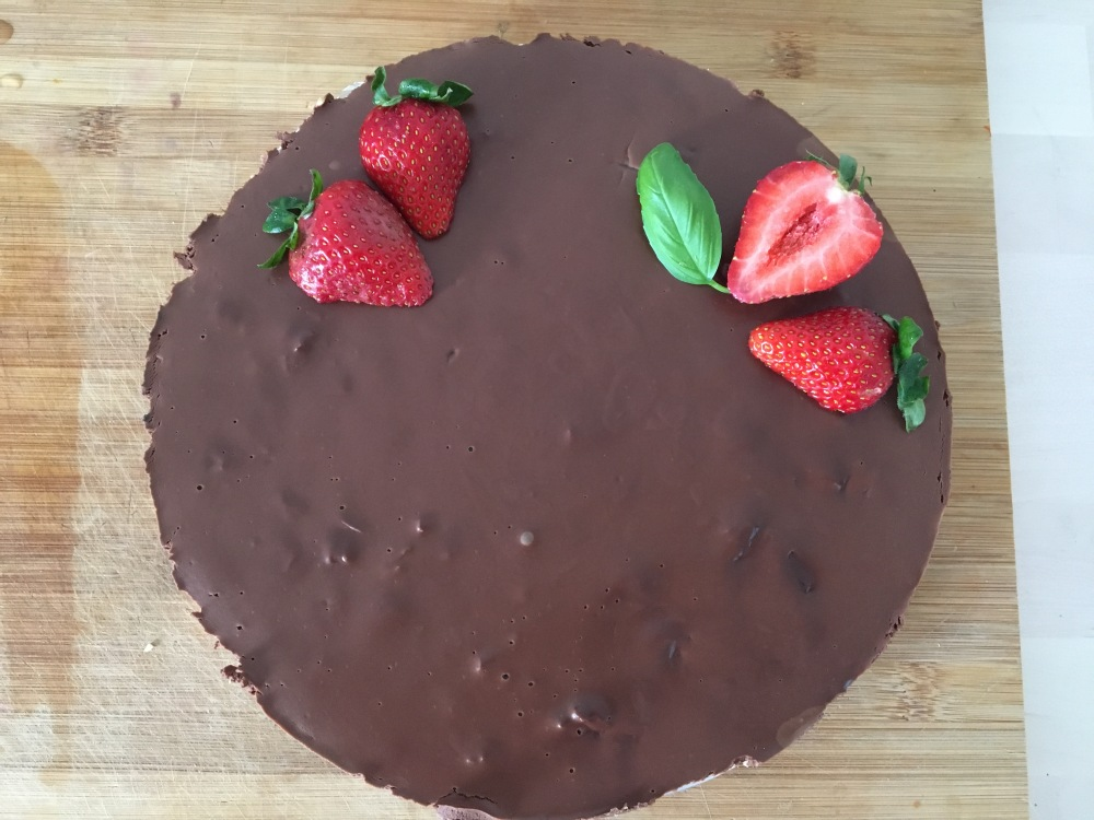 Tarta de chocolate vegana sin gluten
