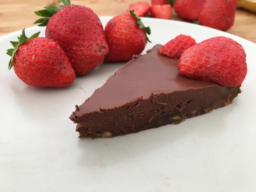 Tarta de chocolate negro vegana sin gluten