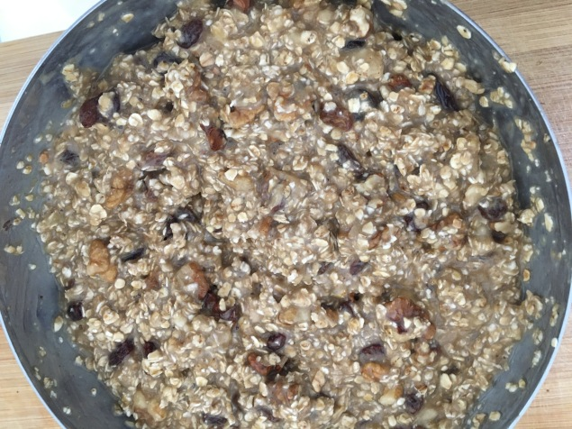 bizcocho de avena platano y nueces sin gluten